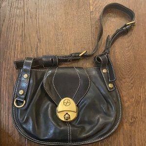 Francesco Biasia small leather black purse/bag